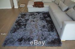 HIGH QUALITY! Shaggy Shag Decorative Dark Grey Gray New 5'x7' Area Rug Carpet