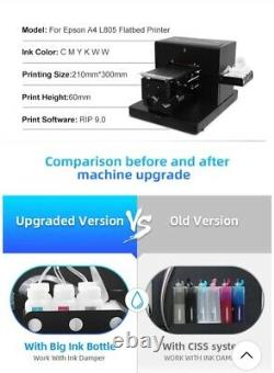 High Quality A4 Flatbed T Shirt Printer DTG for White/Dark Clothing