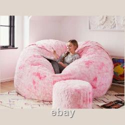 High Quality Bean Bag Chair Fur Extra Large Sofa 7ft Couch Seat Living Room