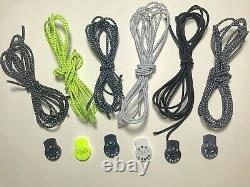 High Quality Reflective No Tie Shoelaces Elastic Lock Shoe Laces Running Hiking