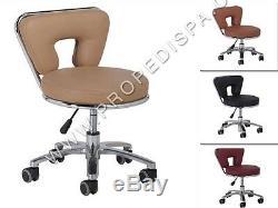 High Quality Spa Chair Pedicure / Manicure Nail Technician Facial / Tattoo Stool