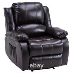 High Quality Type A Functional Chair Recliner Sofa Leathe PU Leather Dark Brown