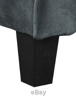 Home Furniture Taryn Rolled Arm Fabric Sofa Quality Plush Comfort Dark Gray New