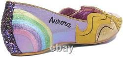 Irregular Choice Dark Vs Light Womens Pointed Flat Shoes In Multi UK Size 3 7