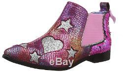 Irregular Choice Women's Starlight Empress Ankle Boots, Pink Pink Dark, 8 42 EU