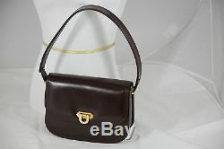 Italian dark brown leather saddle shoulder bag finest quality2 compartment
