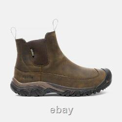 KEEN Men's Anchorage III Pull-On Insulated Waterproof Boots Dark Earth