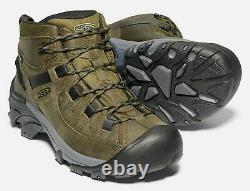 KEEN Men's Targhee II Mid Waterproof Hiking Boot Dark Olive/Black (Select Size)