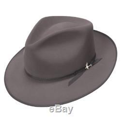 Last 73/8 The Royal Quality Stratoliner Caribou Stetson Fur Felt &Dark Hat Brush