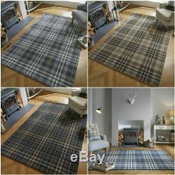 Loch Kilbirnie Traditional Classic Tartan Check Soft Quality Rug Carpet Runner
