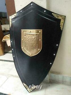 Medieval Dark Knight Armor Templar Shield reenactment best quality of armour