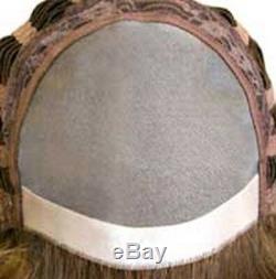 Mens Male Straight Short Human Hair Monofilament Hand Tied Premium Quality Wig