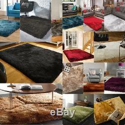 Modern Decor Shaggy High Pile Quality Thick Silky Shiny Soft Rug Home Carpet
