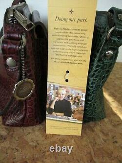 NEW Patricia Nash Avellino Croco Embossed Leather Crossbody Bag CHOICE