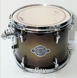 NEW SONOR SELECT FORCE Maple 10 x 8 TOM DRUM, Dark Forest Burst (Bop/Jungle)