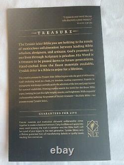 NLT Tyndale Select Edition Goat Skin Genuine Leather Dark Brown