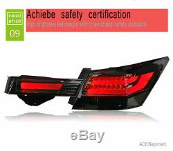 New For Honda Accord LED Taillights 2008-2012 Dark Or Red LED Rear Lamps Quality