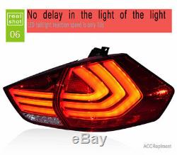 New For Nissan Rogue LED Taillights 2014-2019 Dark Or Red LED Rear Lamps Quality