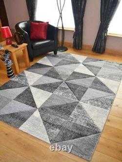 New Quality Light Dark Silver Grey Marble Design Mat Rugs Long Hall Runner Cheap