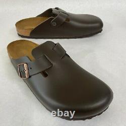 New with Box Birkenstock Boston Dark Brown Clogs Regular- Select Size