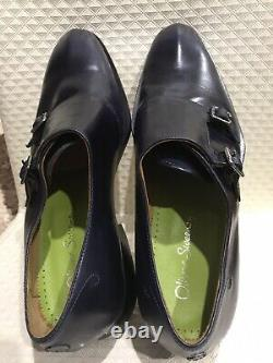 Oliver Sweeney'Ghirri' Classic Dress Shoe. Top Quality Dark Blue Leather