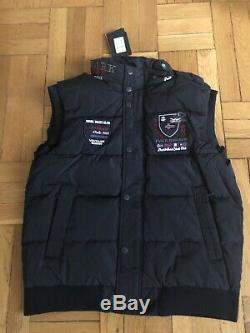 Paul & Shark Yachting Quilted Vest Dark Blue Mens Size L Quality
