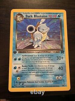 Pokemon Dark Blastoise 1st Edition Holo Team Rocket 3/82 PSA quality