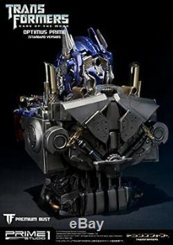 Premium Bust Transformers Dark Side Moon Optimus Prime Polystone Bust