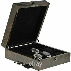 Premium Quality Dark Burl Wood Watch Box for 12 Watches Solid Lid by Aevitas
