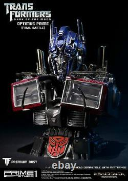 Premium bust Transformers Dark of the Moon Optimus Prime poly stone bust Final