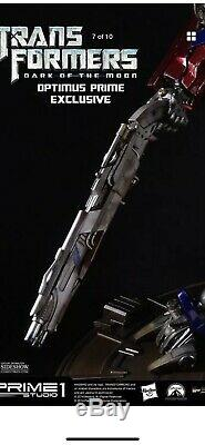 Prime 1 studio transformers Optimus Prime Dark Of The Moon(Ex Shot Gun Only)