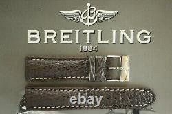 Quality 22mm Dark Brown Shark Watch Band Watchband Bracelet Strap For Breitling