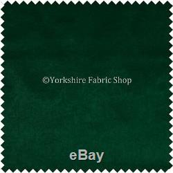 Quality Flat Weave Plain Brushed Chenille Dark Green Colour Upholstery Fabrics