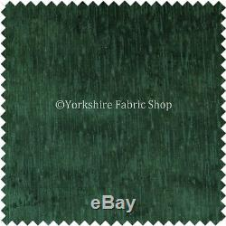 Quality Soft Textured Dark Green Velvet Upholstery Curtains Furnishing Fabric