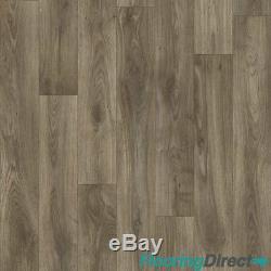 Quality Vinyl Flooring 4mm Thick Kitchen Bathroom Luxury Lino Non Slip Dark Oak