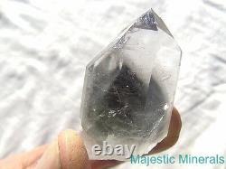 RARE WORLD CLASS QUALITY LARGE Arkansas Quartz Crystal DARK Blue Phantom Point