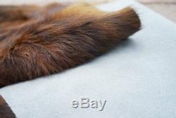 RODEO Dark Brindle By cowhide rug hair on cowhide leather rug superior quality