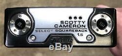 Scotty Cameron 2018 Select Squareback 1.5 Putter NEW Xtreme Dark Circle H