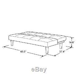Serta Convertible Microfiber Futon, Dark Grey, Soft Quality, High Density Foam