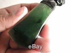 Shane's Greenstone Jade Pounamu Nephrite Maori QUALITY TOKI ARAHURA Dark Colour