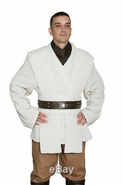 Star Wars Obi Wan Kenobi Costume +Dark Brown Jedi Robe Film Set Quality from USA
