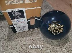 Storm Dark Code 1st Quality Bowling Ball 15 Pounds 4-4.5 Pin 3.14oz TW