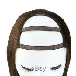 Sunny U Part Wig with Clips Quality Dark Brown 4# 100% Real Human Hair Straight