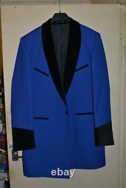 Teddy Boy Drape Jacket, Dark Blue, Rock N Roll, Showaddywaddy, Stage Quality