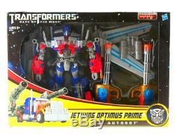 Transformer Dark Of the Moon Supreme Class Jetwing Optimus Prime Figure RARE New