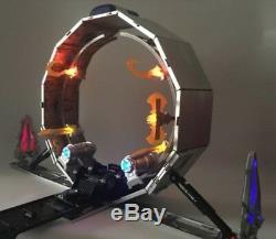 Transformers Dotm Dark of the Moon Optimus Prime, UFO TRAILER ANNULAR, armi e mani