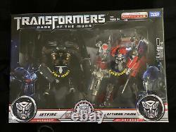 Transformers Leader Class Movie Dark Of The Moon Optimus Prime Jetfire Mech MIB
