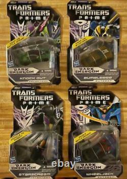 Transformers Prime Dark Energon Deluxe Starscream Knockout Wheeljack Bumblebee