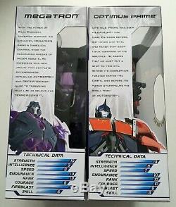 Transformers Prime Dark Energon Optimus Prime and Megatron NEW SEALED MINT