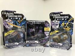 Transformers Prime Megatron Wheel Jack Bumblebee Dark Energon Lot MISB